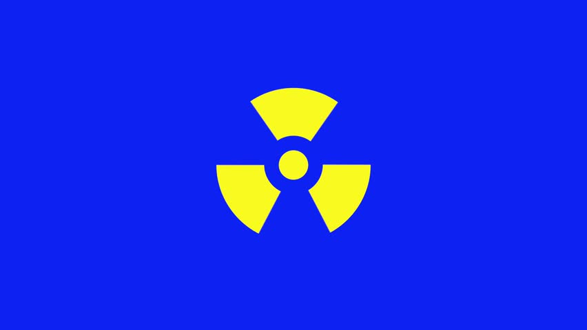 nuclear danger symbol flashing stock footage video 5809748