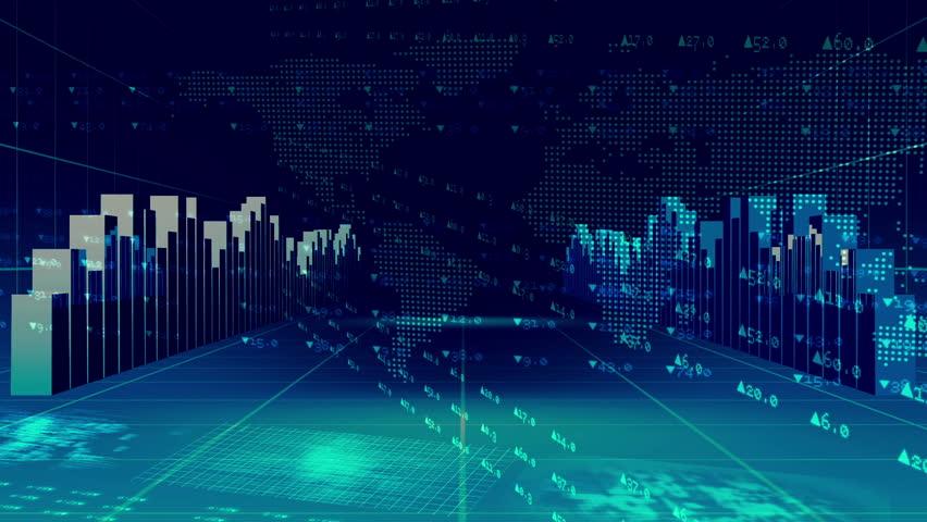 Digital Animation Of Blue International Finance And ...