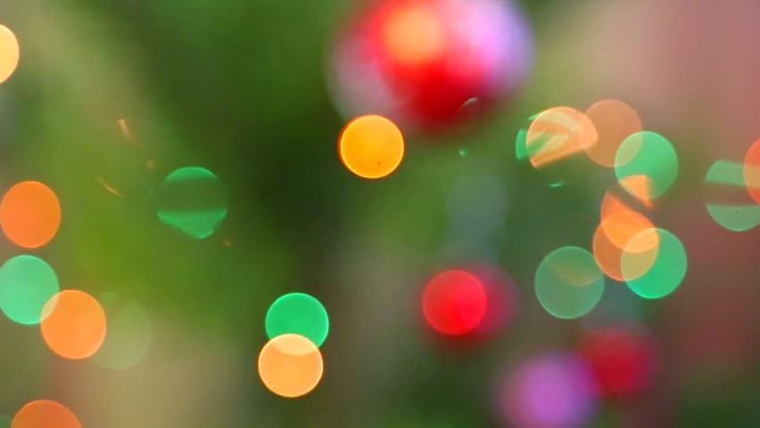 Christmas tree lights  - HD stock video clip