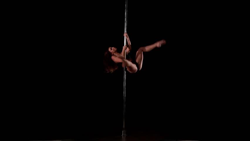 Girl Dancing Lap Dance, Beautiful Woman Doing Pole Dance ...