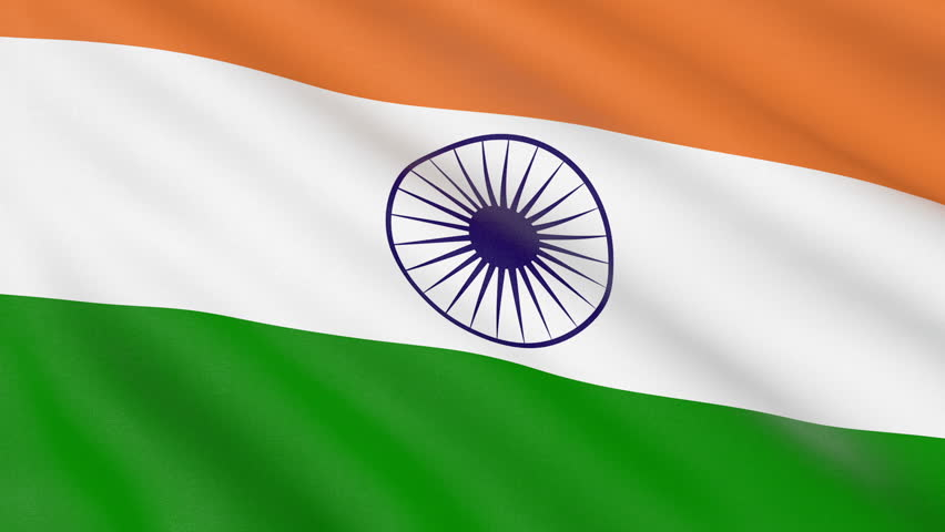 Indian Flag Animated: Flag Of India Waving With Realistic Cloth Texture