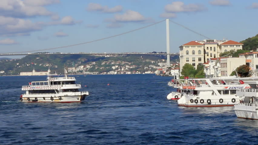 ISTANBUL - OCT 1, 2011: Commuter ferries extremely popular at many distances in city, including Besiktas and Uskudar. Passenger ships the absolute most enjoyable way to travel in Istanbul.