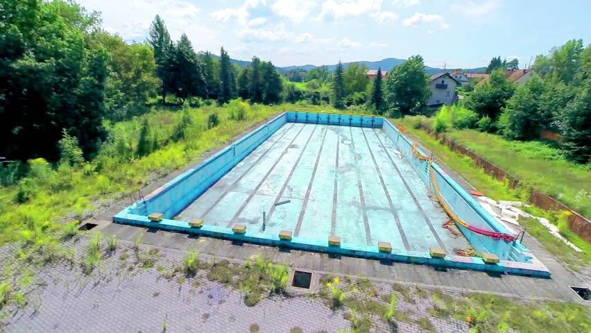 Ljubljana slovenia august 2014 high aerial shot of for Unused swimming pool