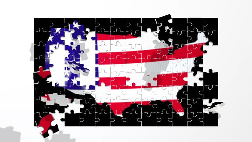 USA puzzle stencil
