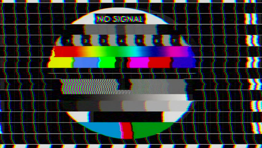 Bad TV - Loop - 2 - Glitchy Noise On HDTV Test Color Bars ...