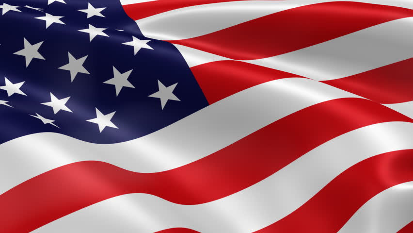 American Flag in the Wind. Part of a series. - HD stock video clip