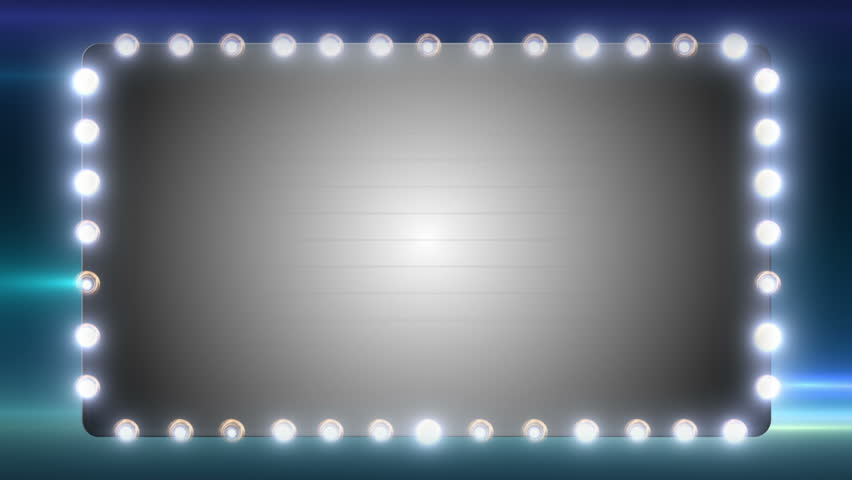 A Blank Marquee Sign With Flashing Lights. Stock Footage ...