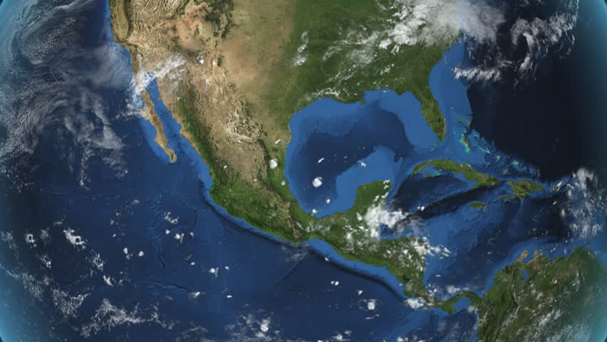 """Mexico. 3d earth in space - zoom in on Mexico contoured. """"Elements of this image furnished by NASA"""""""