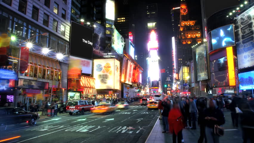 Times Square Time Lapse  - HD stock video clip