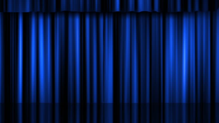 Blue Theater Curtain Video Stock Footage