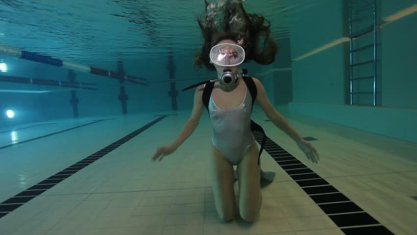 Gasping blue bikini babe with fish tattoo 9
