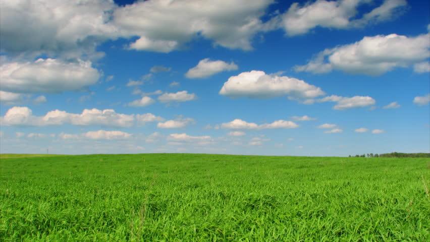 landscape, blue sky, timelapse - HD stock footage clip