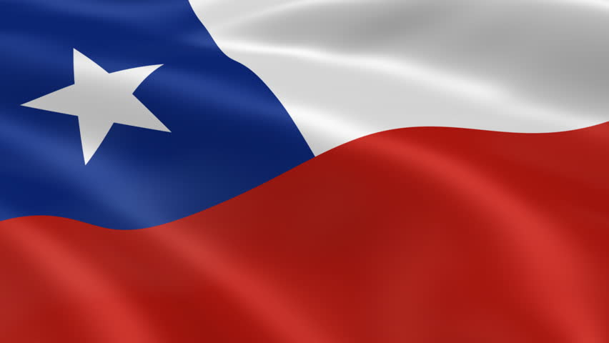 Chilean flag in the wind. Part of a series. - HD stock footage clip