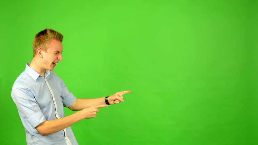 Man - green screen - portrait - man agrees (shows thumbs up for approval) | Shutterstock HD Video #7634077