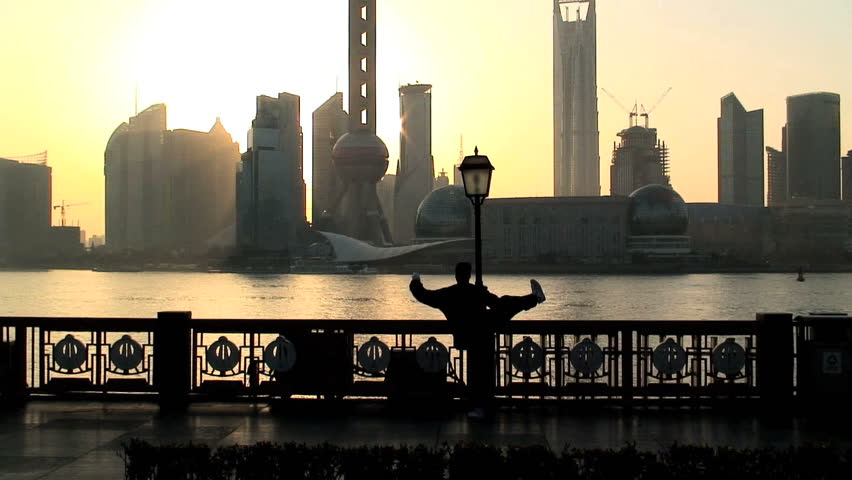 Sunrise over the Bund Shanghai China