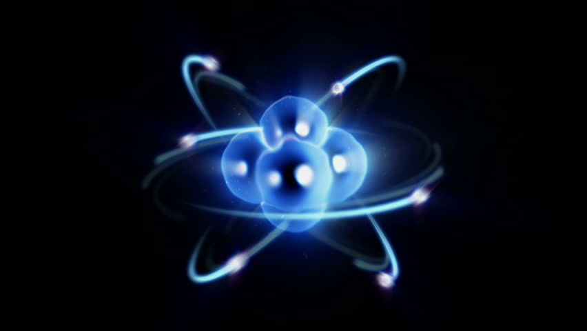 Atom Spinning With Nucleus And Electrons Loopable Stock Footage Video 5543639 Shutterstock