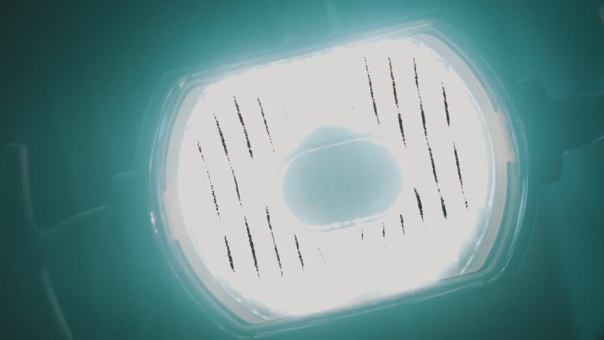 Dentist office. Medical lamp. - HD stock footage clip