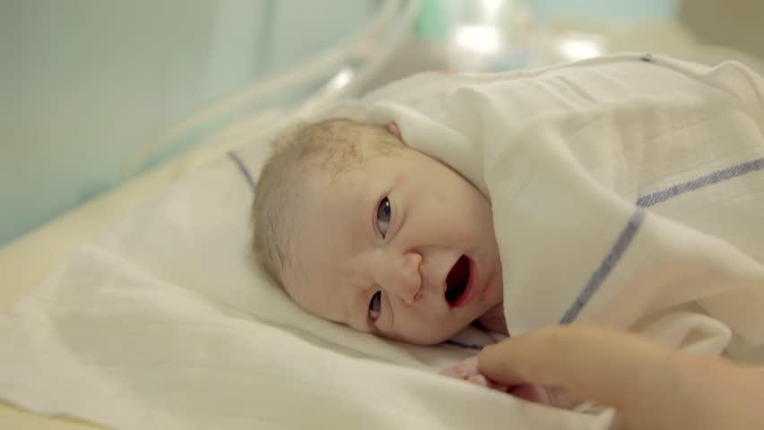 Nurse Cover Just-born Baby Boy. Nurse Cover Just-born Baby ...
