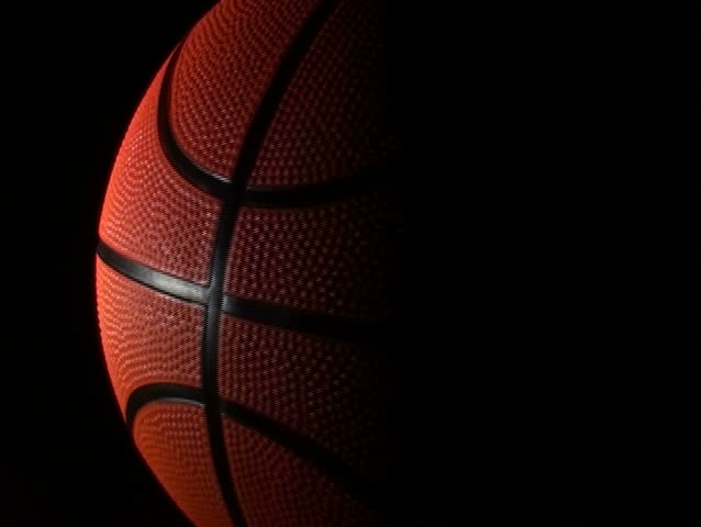 Basketball, Rotation On Black Background, Loop Stock ...