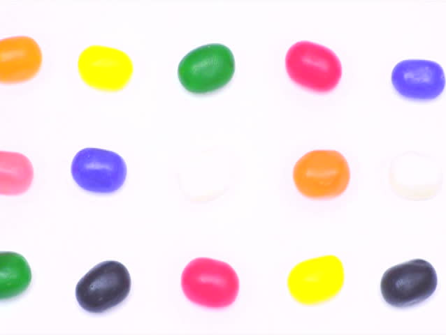 Jelly beans stop motion V1 - NTSC - SD stock video clip