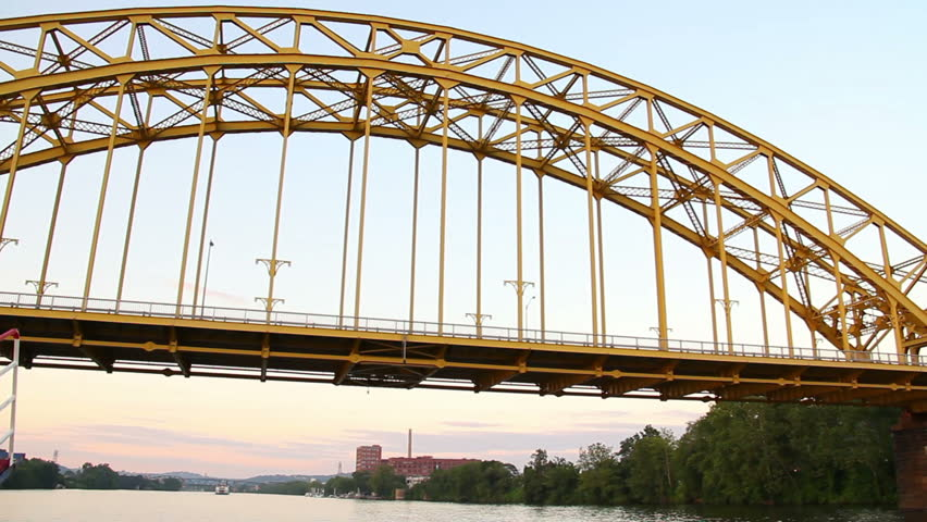 The 16th Street Bridge, a steel arch bridge spanning the Allegheny River in