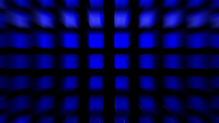 blue rectangle matrix disco background - HD stock video clip