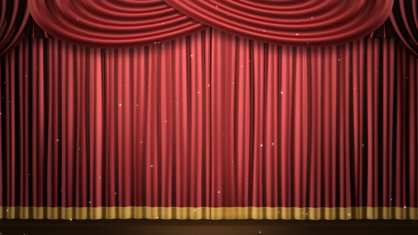 Stage curtains fabric - High Definition Clip Of An Opening Red Stage Curtain Animated Mask