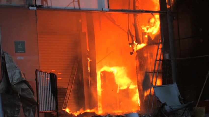 Burning Department Store