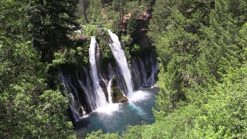 Burney Falls, Shasta county, California | Shutterstock HD Video #7953415