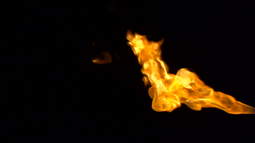 Fireball in slow motion - HD stock video clip