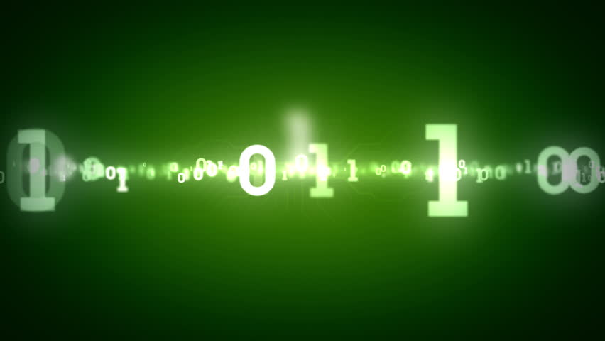 Binary Numbers Tracking Green | Shutterstock HD Video #7975690