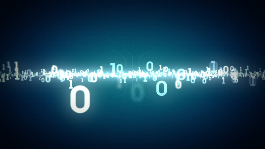 Binary Numbers Zooming Blue | Shutterstock HD Video #7975708