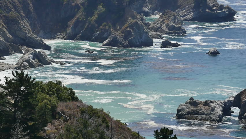 Big Sur Slow Motion 22 California Coastline 96fps - HD stock video clip