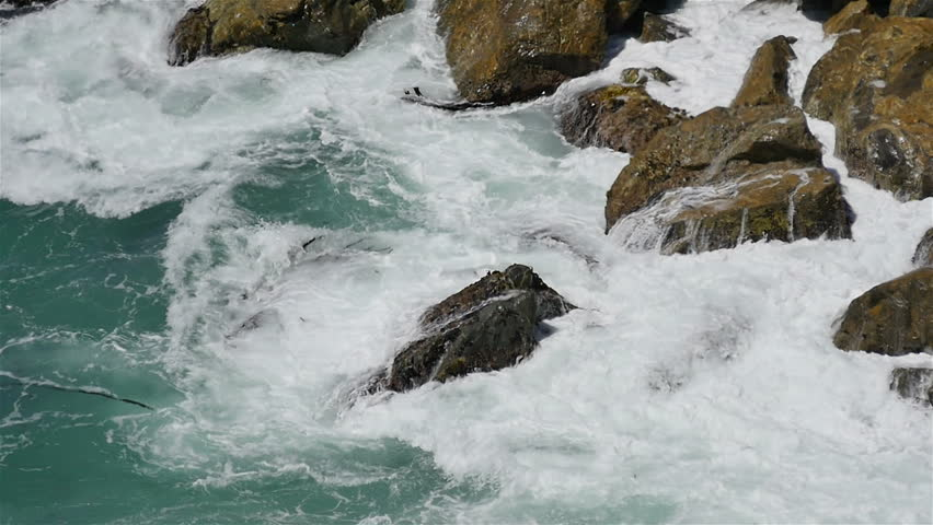 Big Sur Slow Motion 29 California Coastline 96fps - HD stock video clip