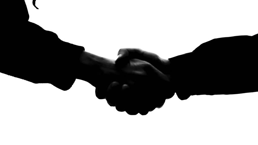 Image result for shaking hands silhouette