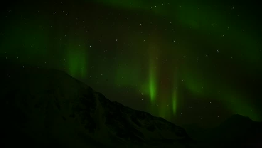 Northern lights - HD stock video clip
