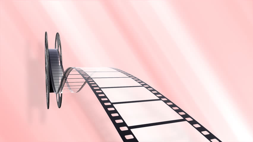 Film strip and reel. - HD stock footage clip