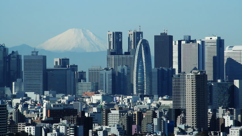 Tokyo Buildings and Mt FUJI | Shutterstock HD Video #8081251