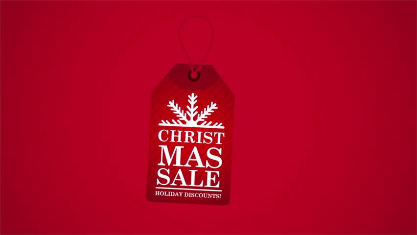 Christmas sale label, Video Animation, HD 1080