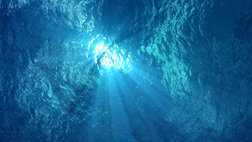 4K - quality Looping animation of ocean waves from underwater, diving in tropics. Light rays shining through. Great popular marine Background. (seamless loop, 4k,ultra high definition, 3840 X 2160) | Shutterstock HD Video #8101591
