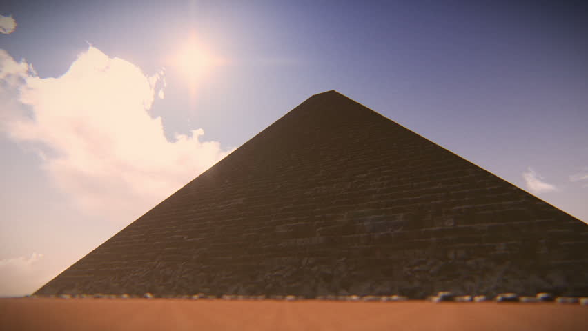 Airplane flying over one of Egypt Pyramids. 3D computer generated in December - 2014   Shutterstock HD Video #8113912