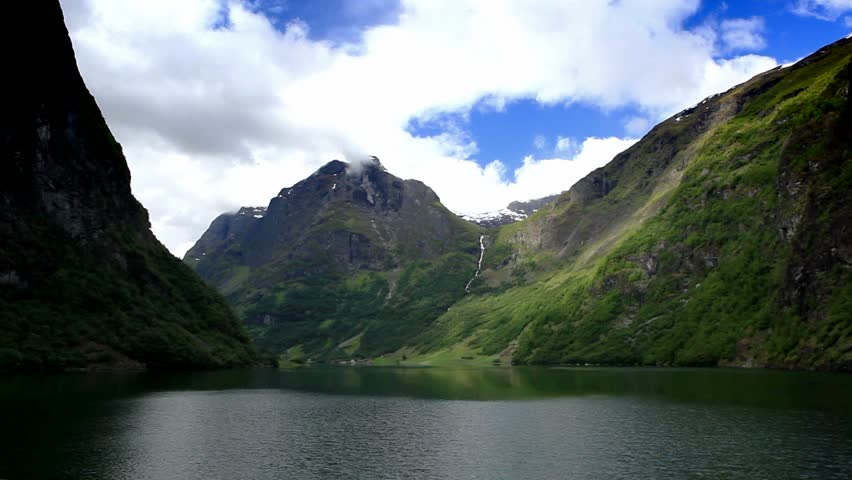 Norway. Go by ship through the fjord. #813760