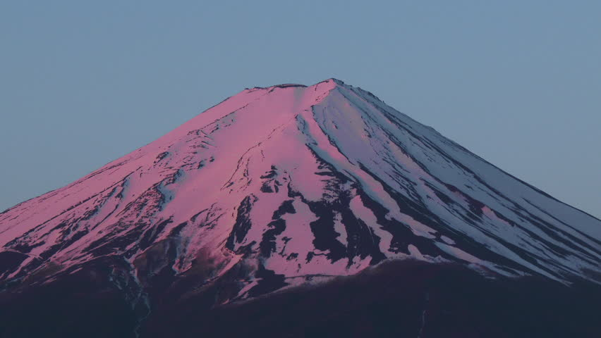 Mount Fuji, view get sunshine from Lake Kawaguchiko, Japan | Shutterstock HD Video #8159011
