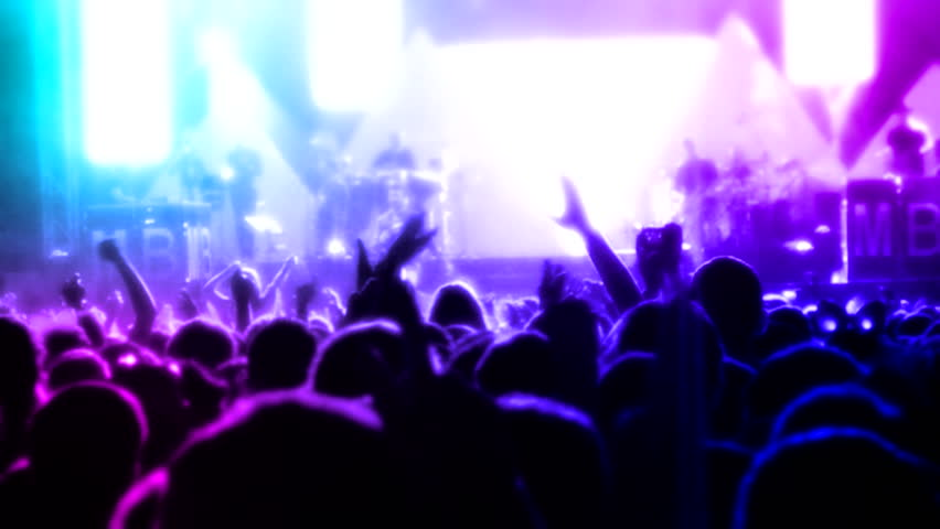 Crowd at concert  ( Series 14 + Version from 1 to 10 )  | Shutterstock HD Video #8167489