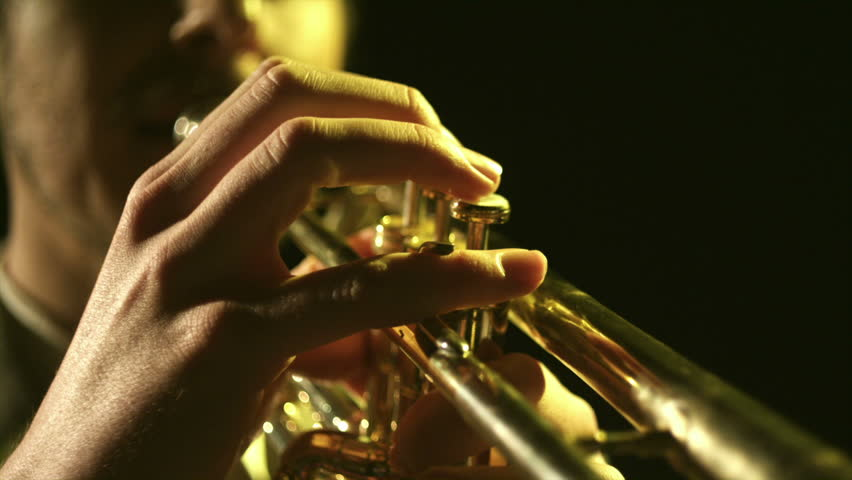 A young saxophonist plays his instrument. - HD stock video clip
