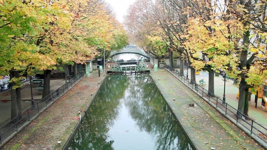 Canal Saint Martin, Paris, France. | Shutterstock HD Video #8182807