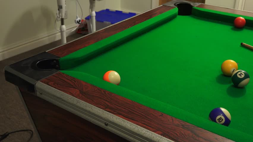 Sequence Hit Billiard Balls Sound Stock Footage Video