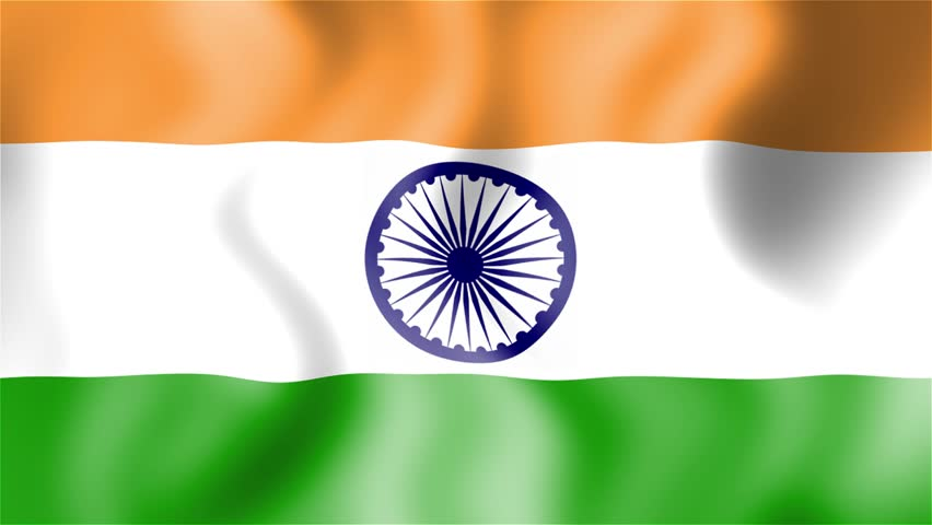 For Indian Flag Hd Animation: Seamless Loop Stock Footage Video