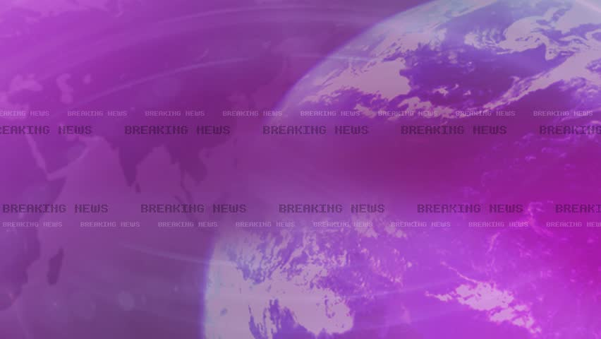 Breaking News 4K Animation, Lens Flare Reveals Text - Pink, Purple