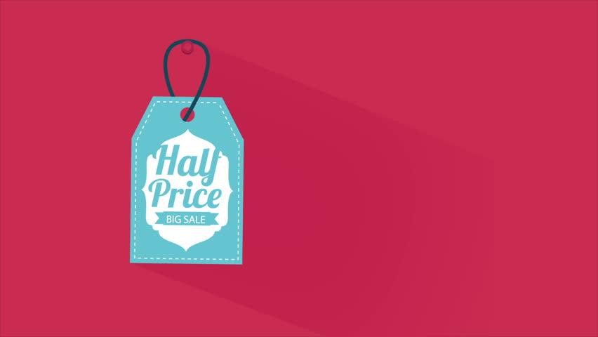 Half Price blue label Video Animation